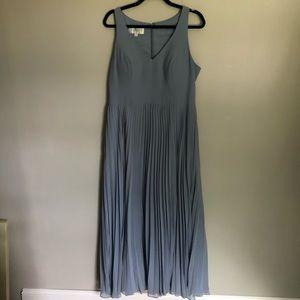 Azazie Dusty Blue Racer Back Dress